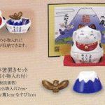 彩絵福夢箸置きセット(招き猫小物入れ付)