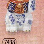染錦開運招福招き猫(左手上げ・3.5号)