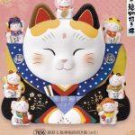錦彩七福神福助招き猫(16号)