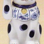 染錦福尽し招き猫(右手上げ・8号)