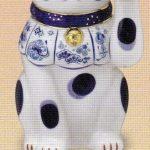 染錦福尽し招き猫(左手上げ・7号)