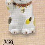 陶彩福鈴招き猫(右手上げ)