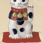 染錦招き猫(9号)